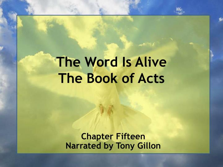 the word is alive the book of acts n.
