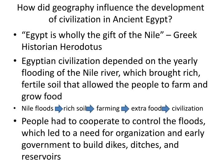 influence of ancient egyptian civilization However, tracing egyptian influences in other middle eastern cultures, the   some of these are related to ancient egyptian civilization, namely (from north to.