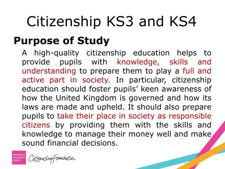 Citizenship KS3 and KS4