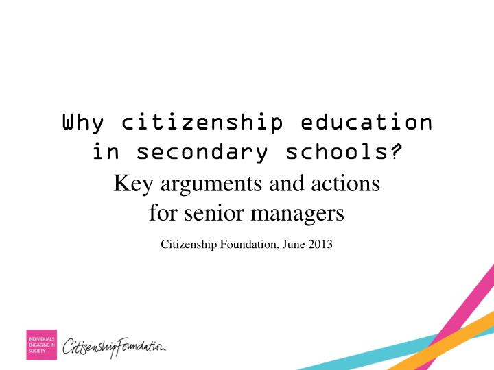 Why citizenship education