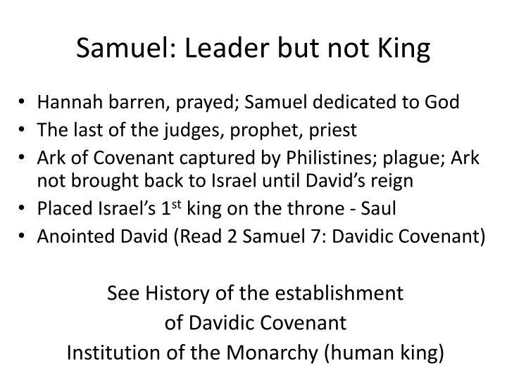 Samuel: Leader but not King