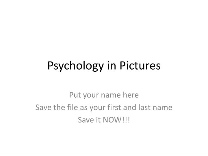 psychology in pictures n.
