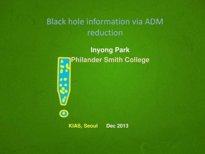 black hole information via adm reduction n.