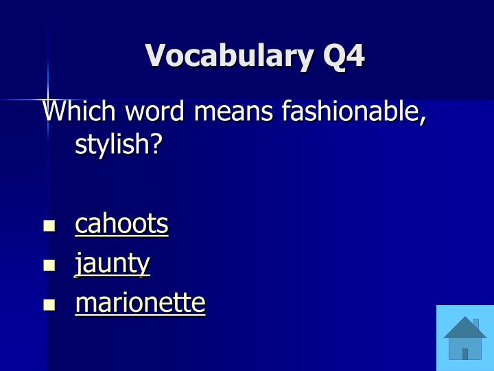 Vocabulary Q4