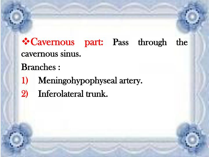 Cavernous part: