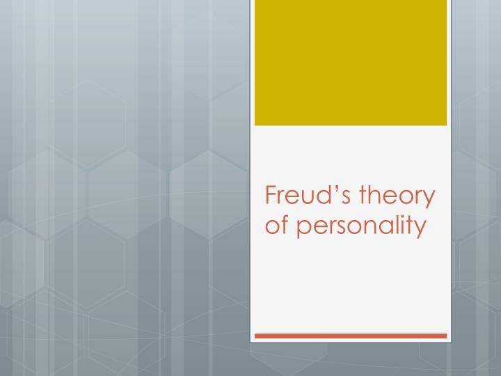 freud s theory of personality n.