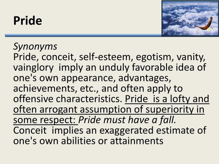 characteristics of pride