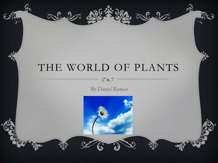the world of plants n.