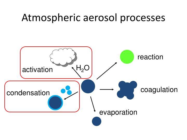 Atmospheric aerosol processes