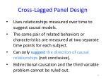 cross lagged panel design