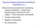 pearson product moment correlation coefficient r