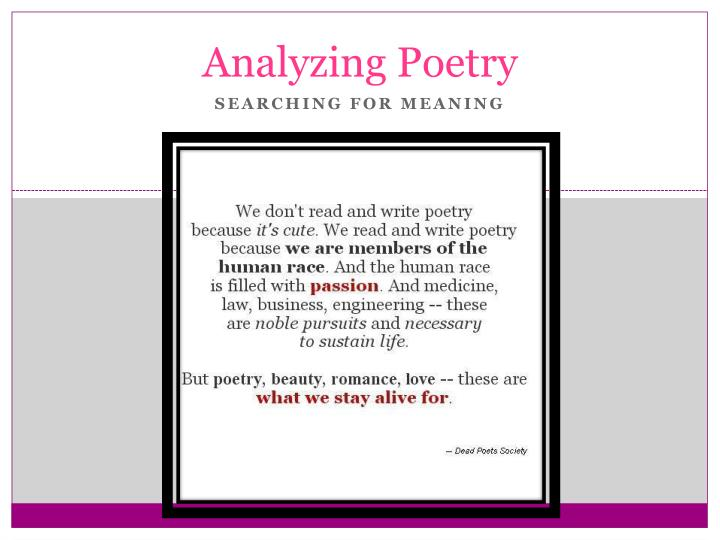 how to write a poetry analysis
