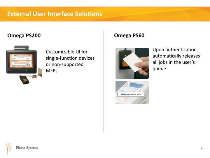 External User Interface Solutions