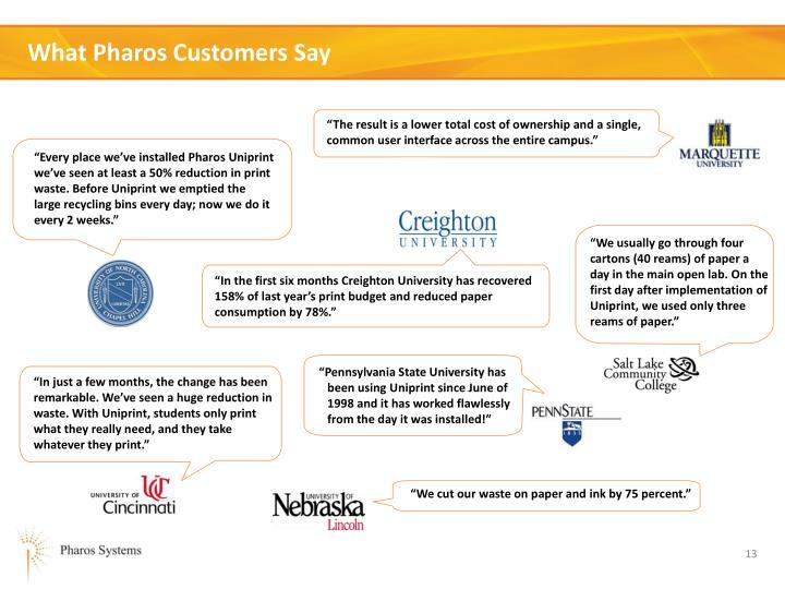 What Pharos Customers Say