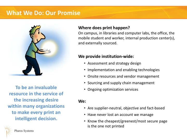 What we do our promise
