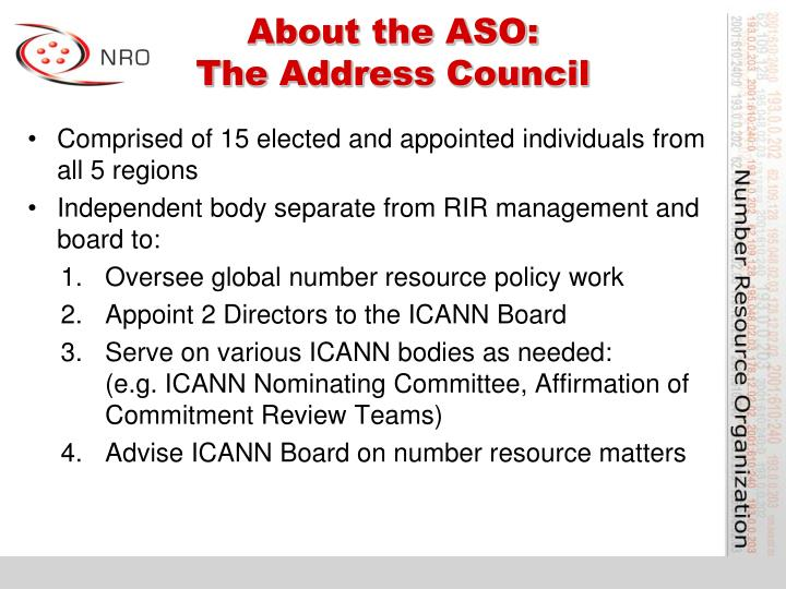 About the ASO: