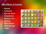 side effects of ecstasy