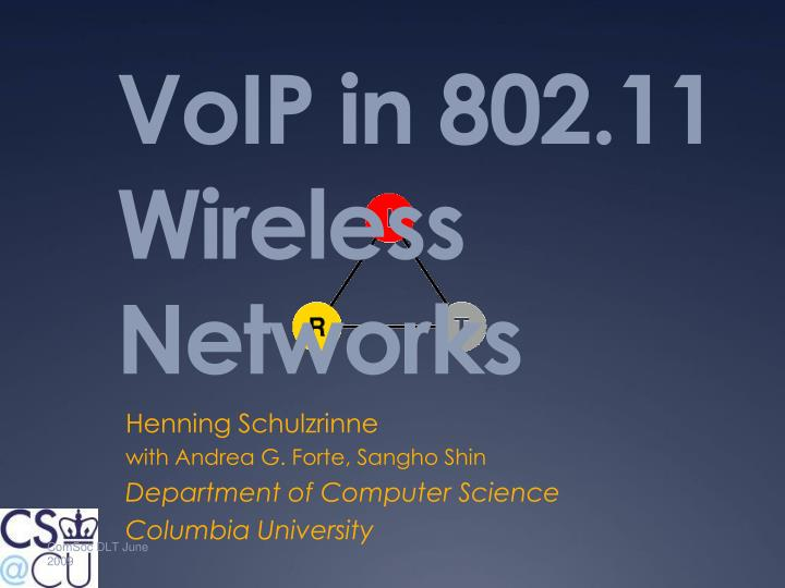 voip in 802 11 wireless networks n.