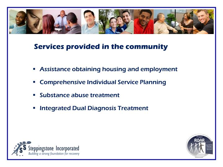 Services provided in the community
