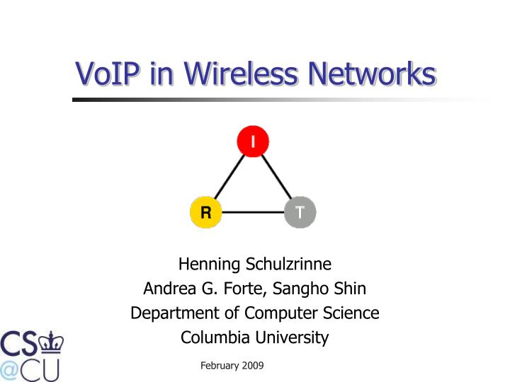 voip in wireless networks n.
