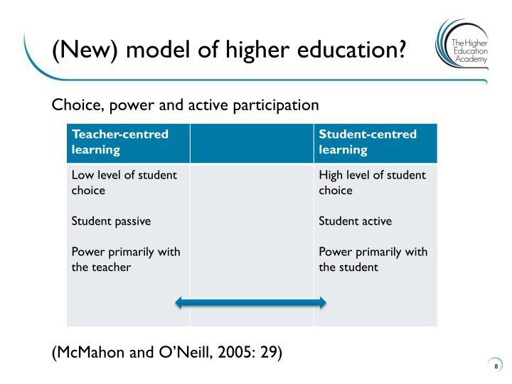 (New) model of higher education?