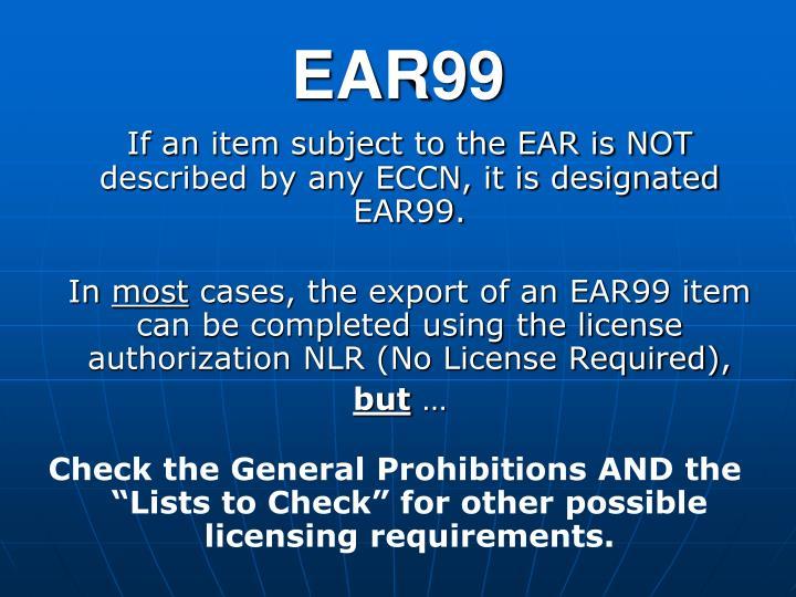 EAR99