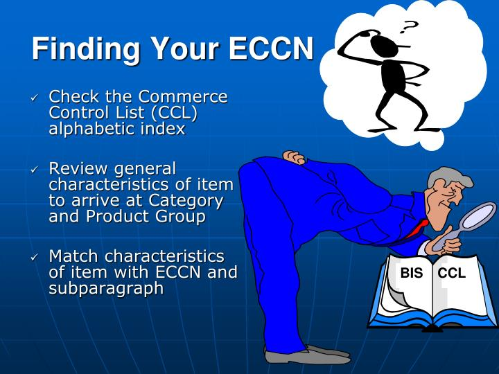 Finding Your ECCN