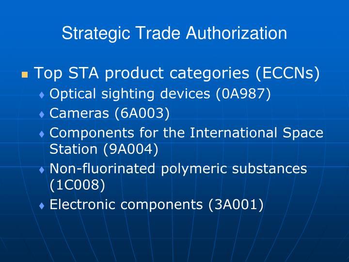 Strategic Trade Authorization
