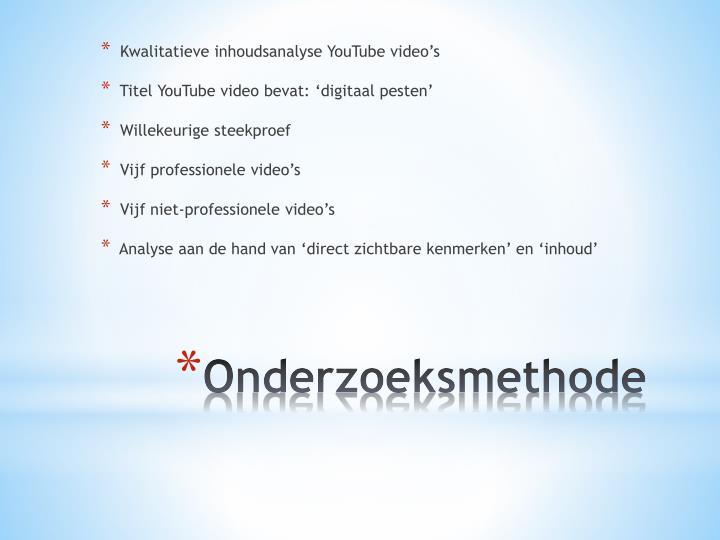 Kwalitatieve inhoudsanalyse YouTube video's