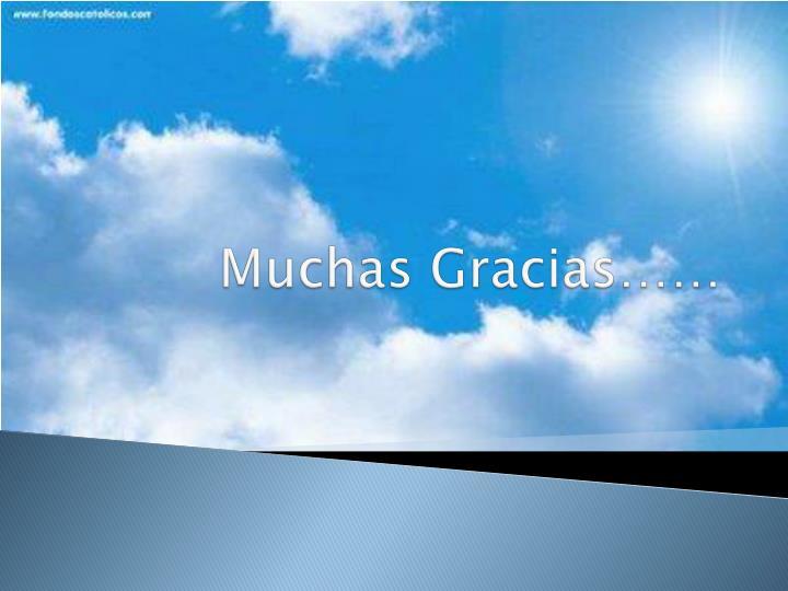Muchas Gracias……