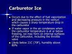 carburetor ice