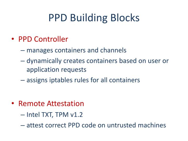 PPD Building Blocks