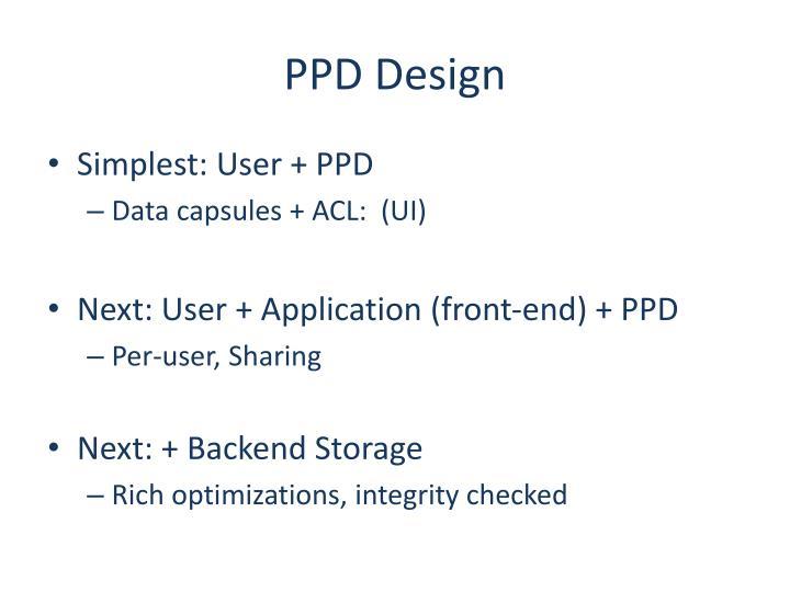 PPD Design