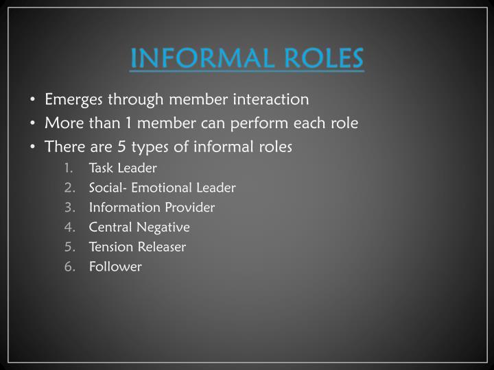 INFORMAL ROLES