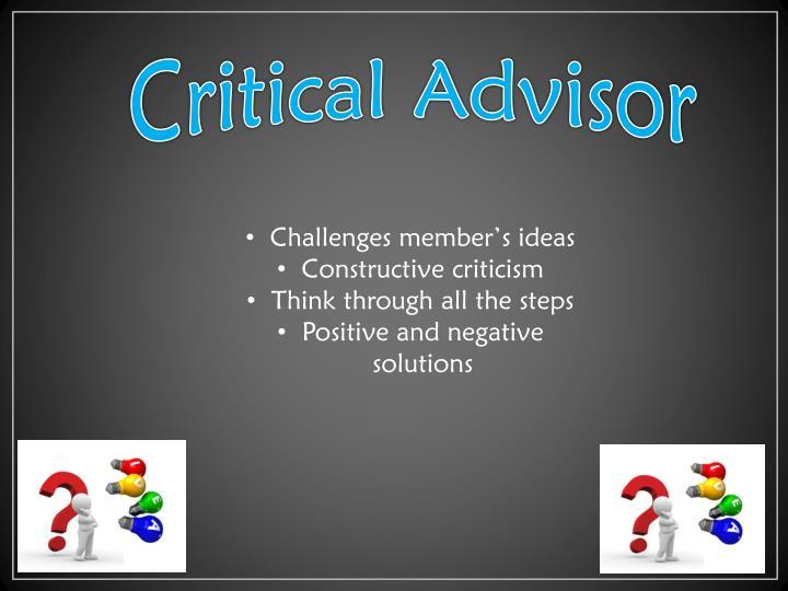Critical Advisor