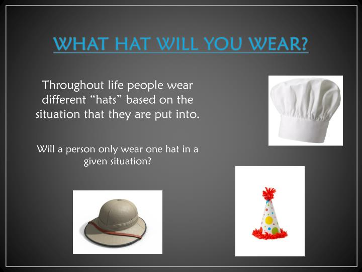 What hat will you wear