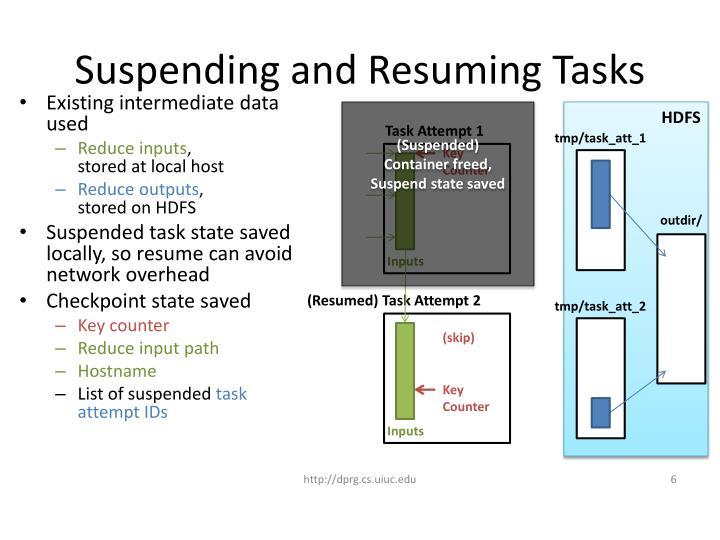 Suspending and Resuming Tasks