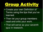 group activity4