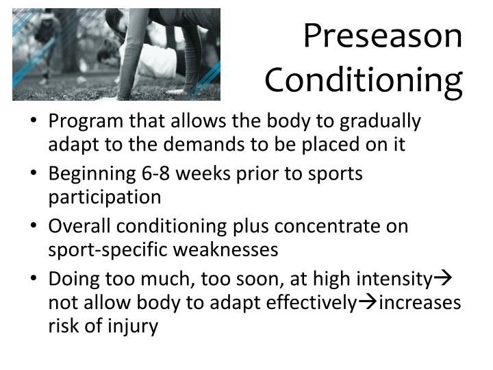 Preseason conditioning