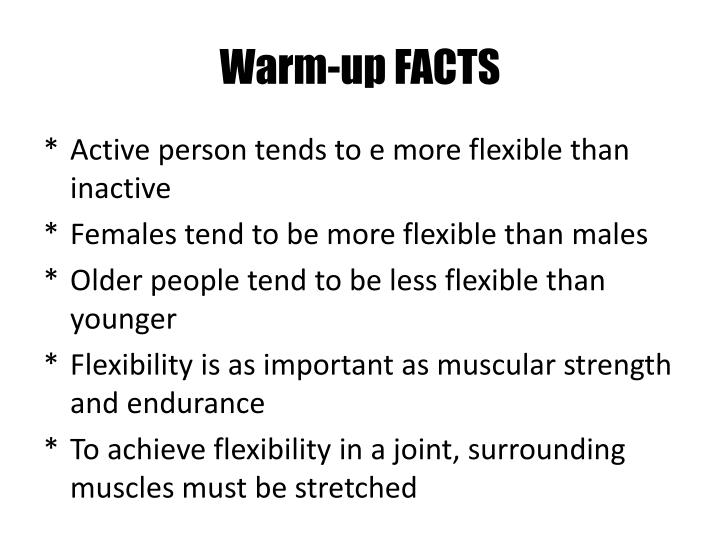 Warm-up FACTS