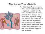 the kapok tree natalie