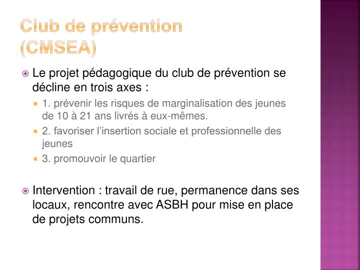 Club de prévention