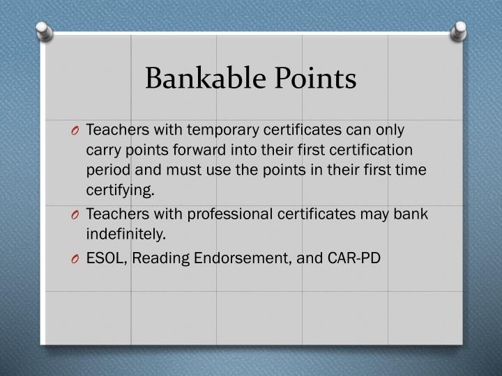 Bankable Points
