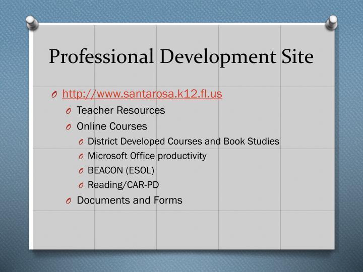 Professional development site
