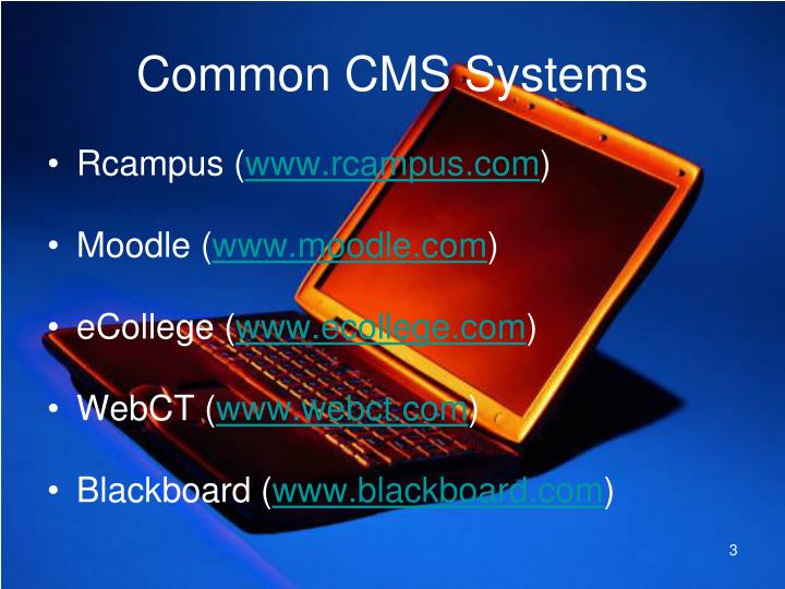 Common cms systems