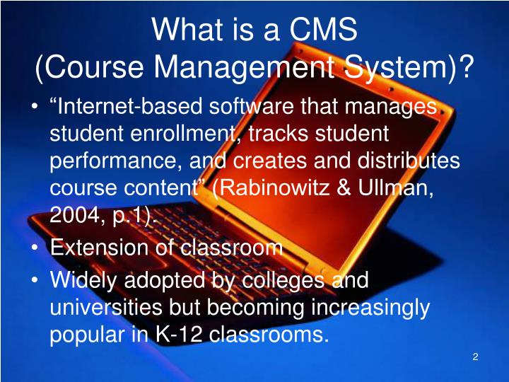 What is a cms course management system