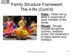 family structure framework the 4 rs cont d