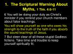the scriptural warning about myths 1 tim 4 6 11