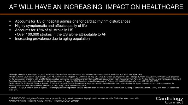 AF WILL HAVE AN INCREASING  IMPACT ON HEALTHCARE
