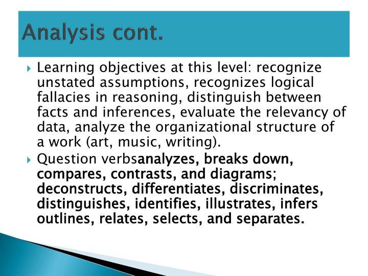 Analysis cont.